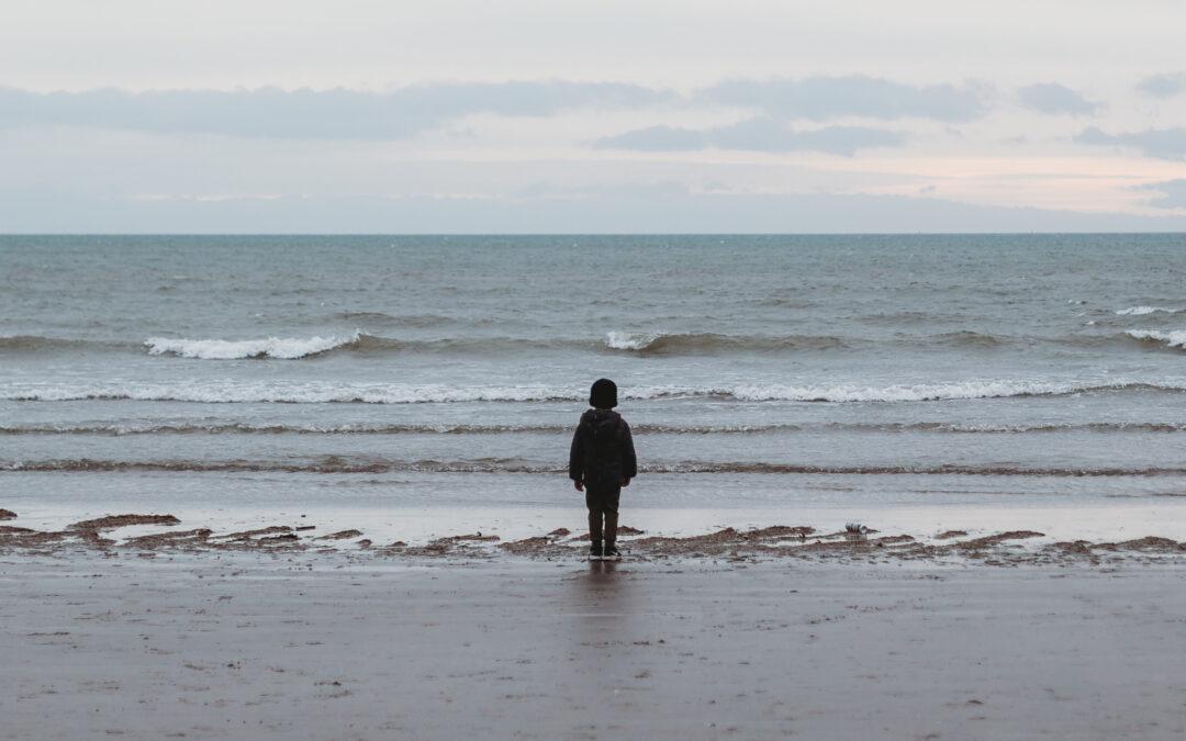 Alone on an Irish beach